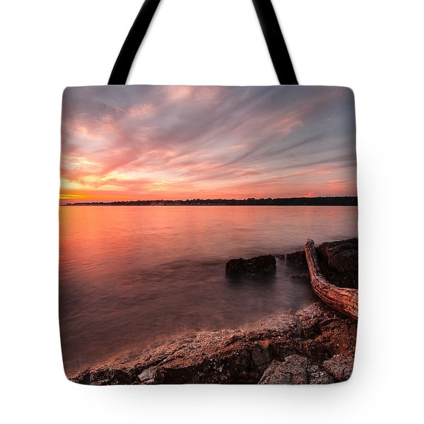 Adriatic Sunset II Tote Bag by Davorin Mance