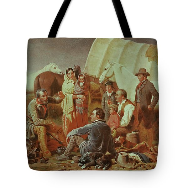 Advice On The Prairie  Tote Bag by William Tylee Ranney