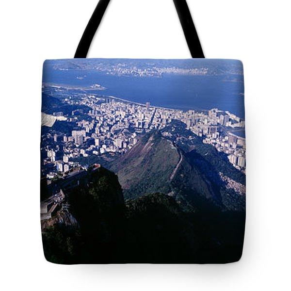 Aerial, Rio De Janeiro, Brazil Tote Bag