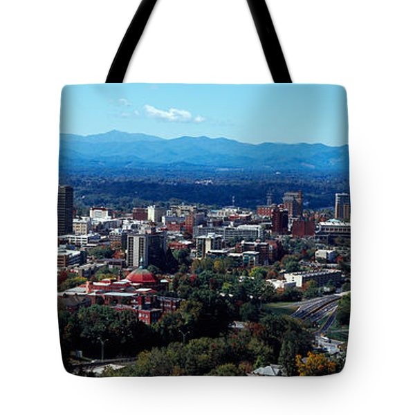 Aerial View Of A City, Asheville Tote Bag