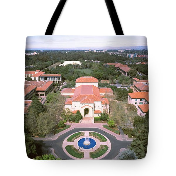 Aerial View Of Stanford University Tote Bag