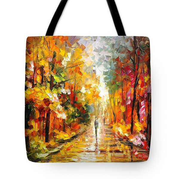 After The Rain Tote Bag by Leonid Afremov