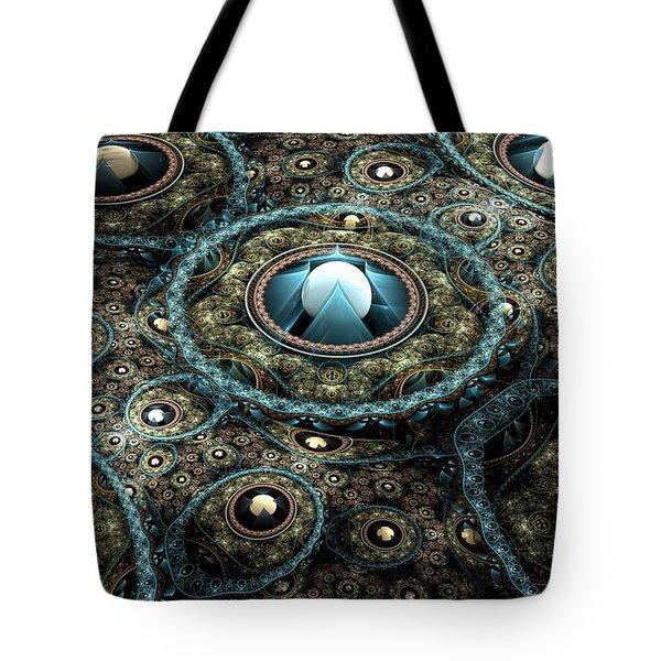 Alien Station Tote Bag by Svetlana Nikolova