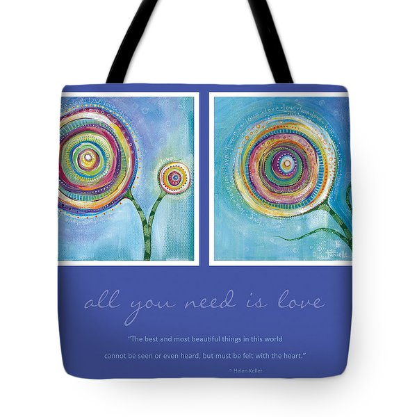 Tote Bag featuring the painting All You Need Is Love by Tanielle Childers