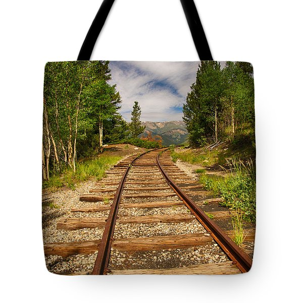 Along Boreas Pass Tote Bag by Christopher L Nelson