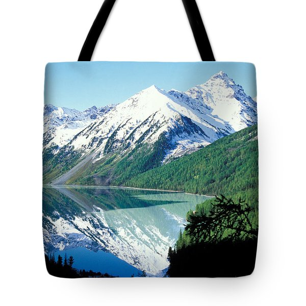 Altai Mountains Tote Bag by Anonymous
