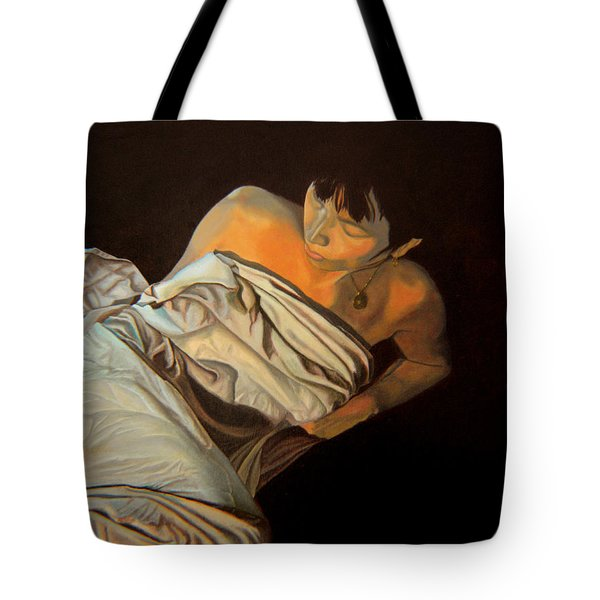 Tote Bag featuring the painting 1 Am by Thu Nguyen