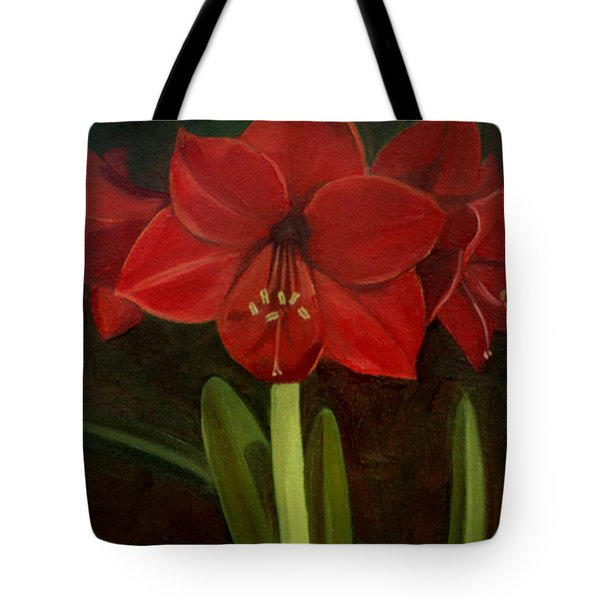 Amaryllis Tote Bag by Nancy Griswold