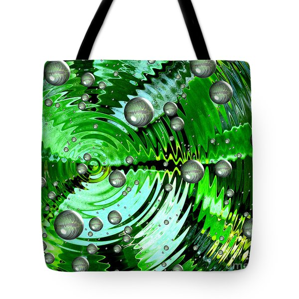 Amazing. Abstract Art. Green Grey  Blue Yellow  Tote Bag