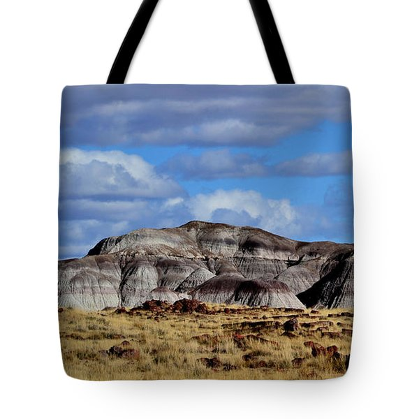Tote Bag featuring the photograph Amber Waves Of Grain And Purple Mountains by Nadalyn Larsen