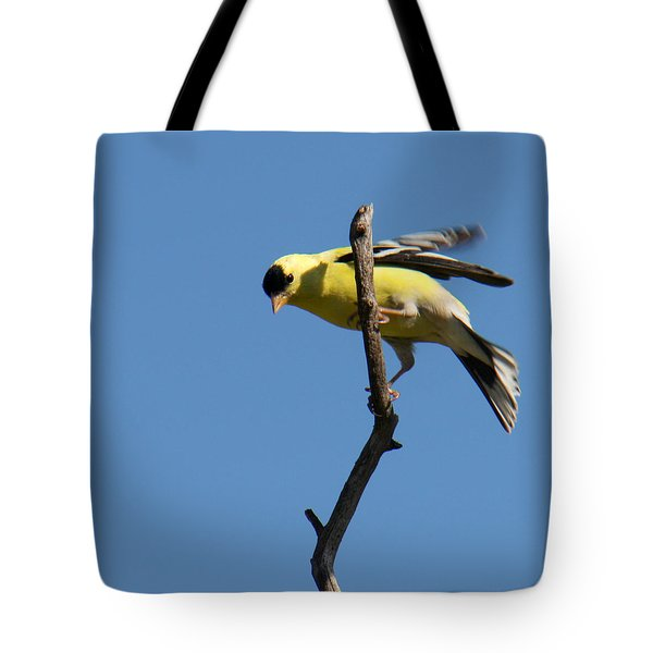 American Goldfinch Tote Bag by Bob and Jan Shriner