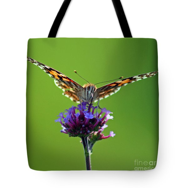 American Painted Lady Butterfly Tote Bag by Karen Adams