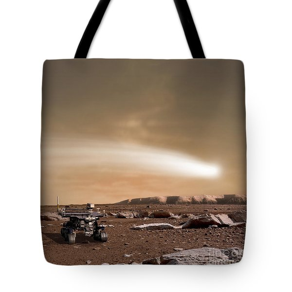An Artists Depiction Of The Close Pass Tote Bag by Marc Ward