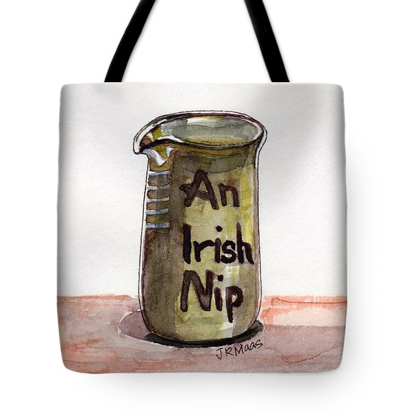 Tote Bag featuring the pastel An Irish Nip by Julie Maas