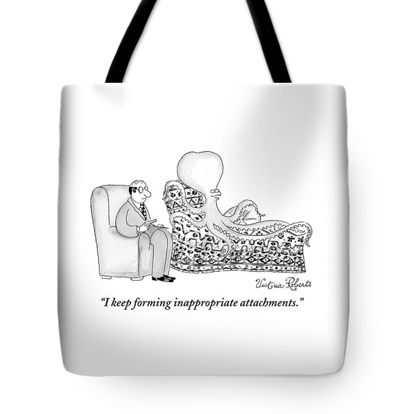 An Octopus Or Squid Lays On A Psychiatrist Or Tote Bag