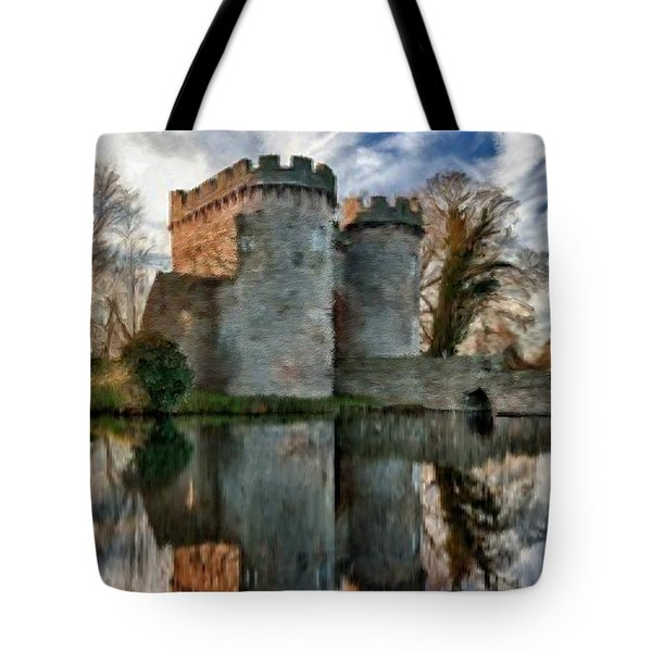 Ancient Whittington Castle In Shropshire England Tote Bag