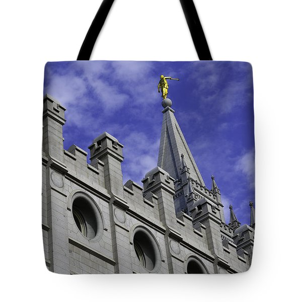 Angel On The Temple Tote Bag
