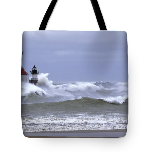 Angry Lake Michigan  Tote Bag