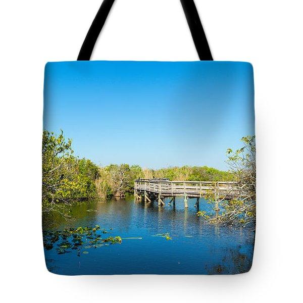 Anhinga Trail Boardwalk, Everglades Tote Bag