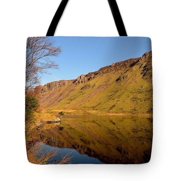 Annascaul Lake Tote Bag by Barbara Walsh