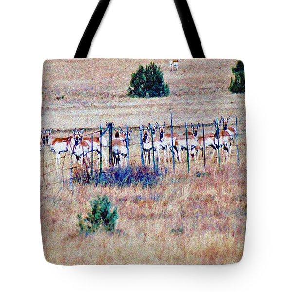 Antelope  Tote Bag by Juls Adams
