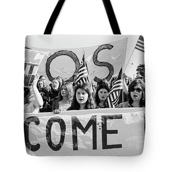 Anti Vietnam War Demonstration Tote Bag