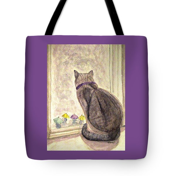 April Showers Tote Bag by Angela Davies