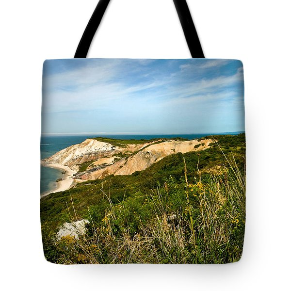 Aquinnah Gay Head Lighthouse Marthas Vineyard Massachusetts Tote Bag