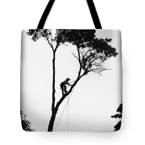 Arborist At Work Tote Bag