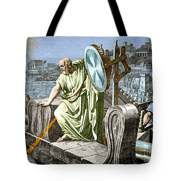 Archimedes Heat Ray Siege Of Syracuse Tote Bag by Science Source