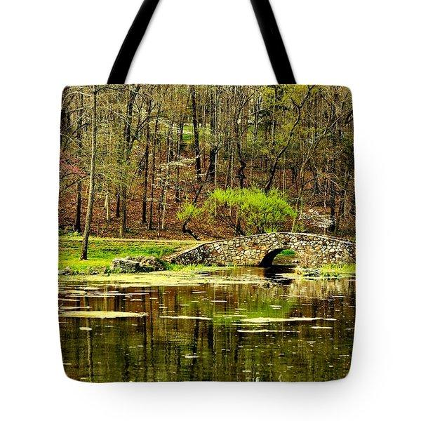 Arkansas Tranquility Tote Bag by Benjamin Yeager