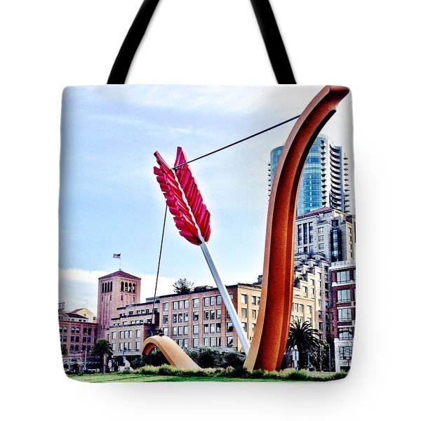 Arrow Tote Bag by Julie Gebhardt