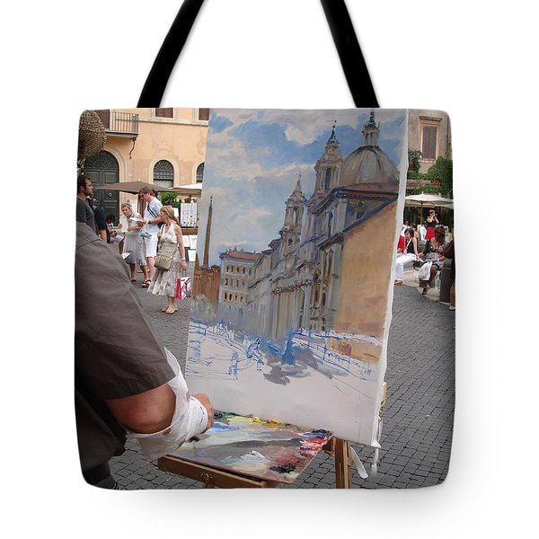 Artist At Work Rome Tote Bag by Ylli Haruni