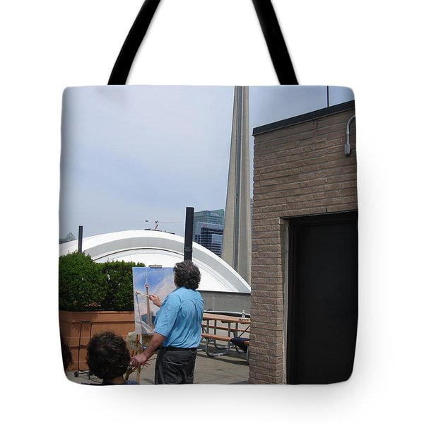 Artist At Work Toronto Tote Bag