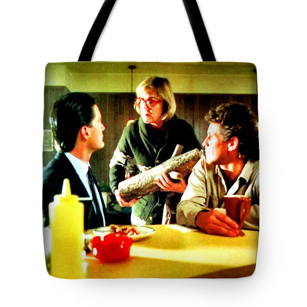 Tote Bag featuring the painting Ask It by Luis Ludzska