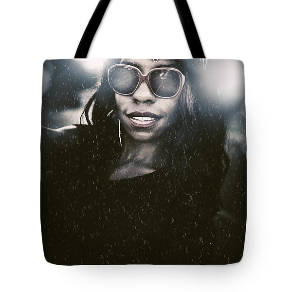 Attractive Young Model In Summertime Fashion Storm Tote Bag