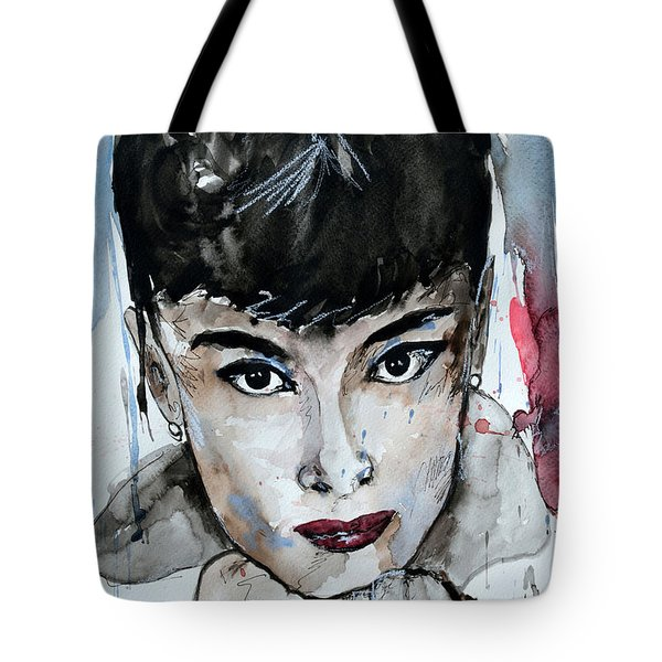 Audrey Hepburn - Abstract Art Tote Bag by Ismeta Gruenwald