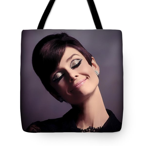 Audrey Hepburn Tote Bag by Mountain Dreams