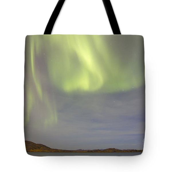 Aurora Borealis With Big Dipper Tote Bag by Joseph Bradley