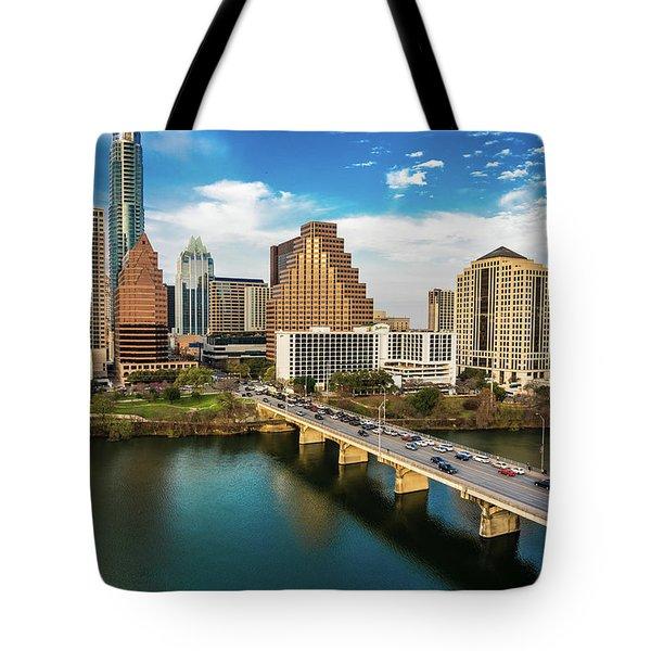 Austin, Texas - Austin Cityscape Tote Bag