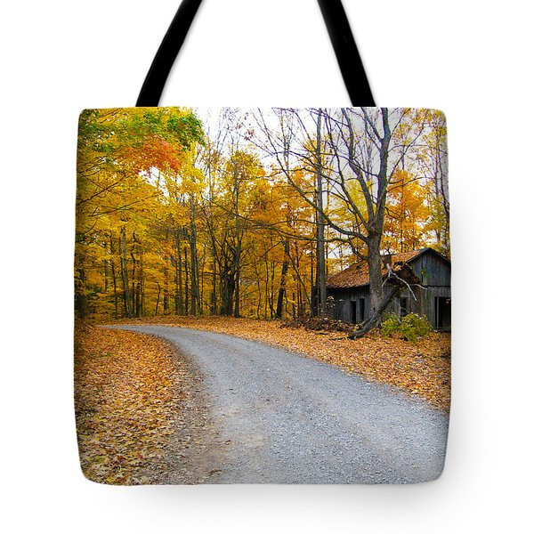 Autumn And The Old House Tote Bag