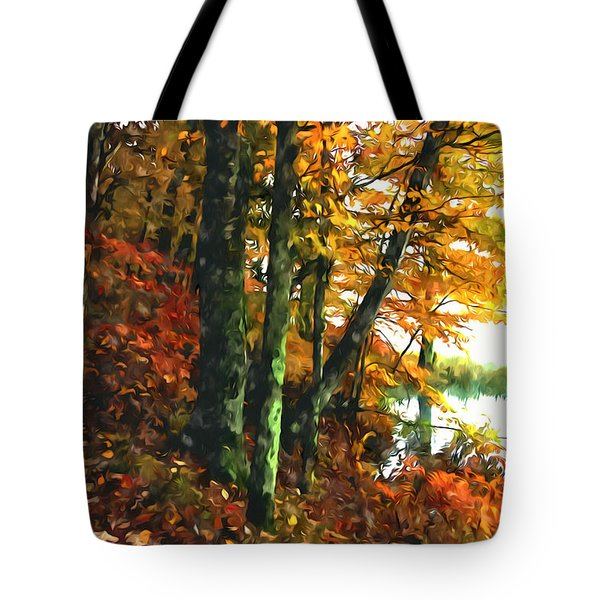 Autumn Colors In The Forest 1 Tote Bag by Lanjee Chee
