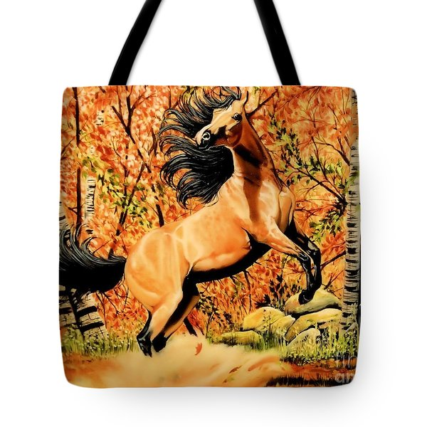 Autumn Frolick Tote Bag