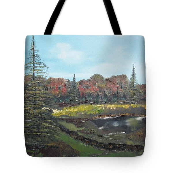 Autumn Landscape Tote Bag by Jan Dappen