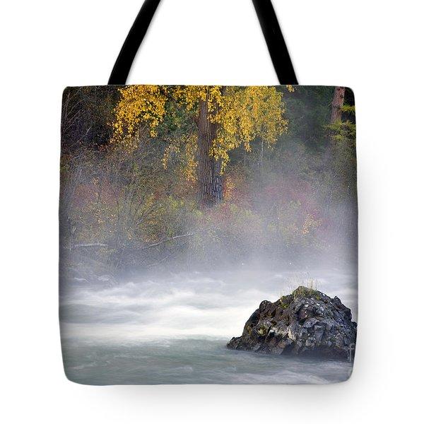 Autumn Mist Tote Bag by Mike  Dawson
