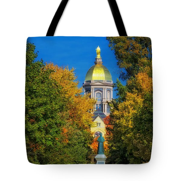 Autumn On The Campus Of Notre Dame Tote Bag