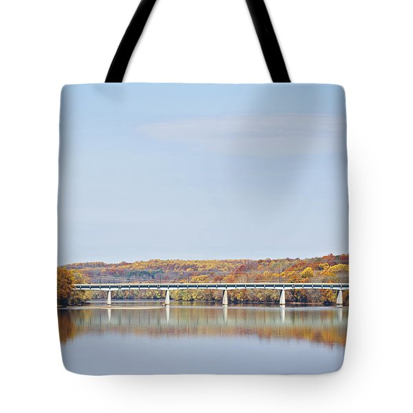 Autumn On The Delaware Tote Bag