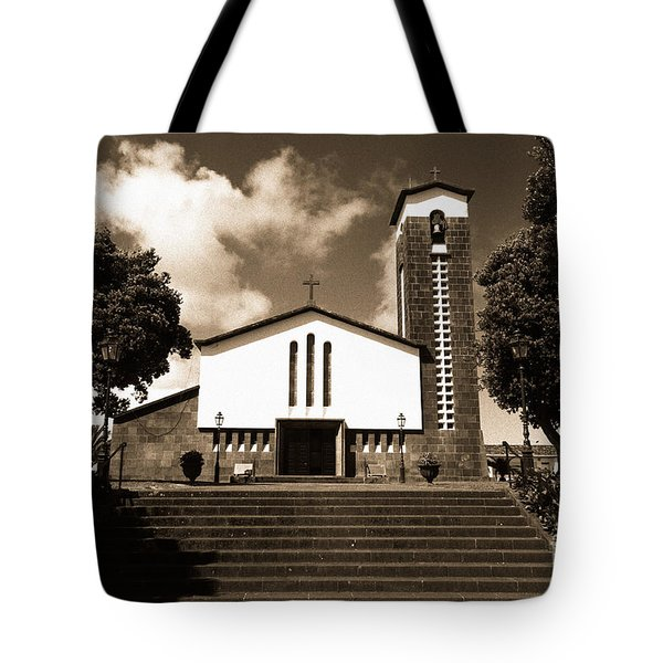 Azorean Church Tote Bag by Gaspar Avila