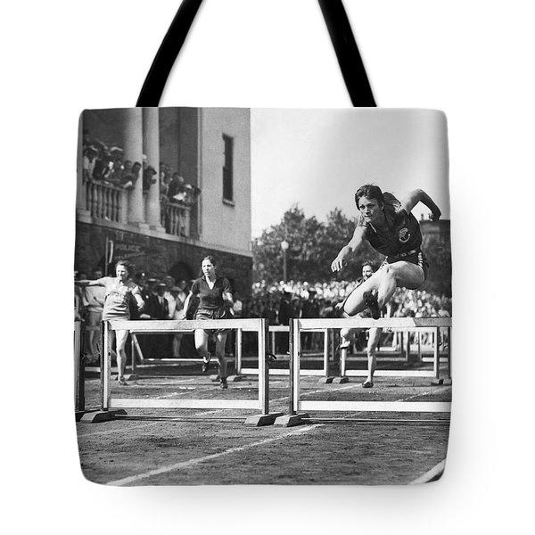 Babe Didrikson High Hurdles Tote Bag