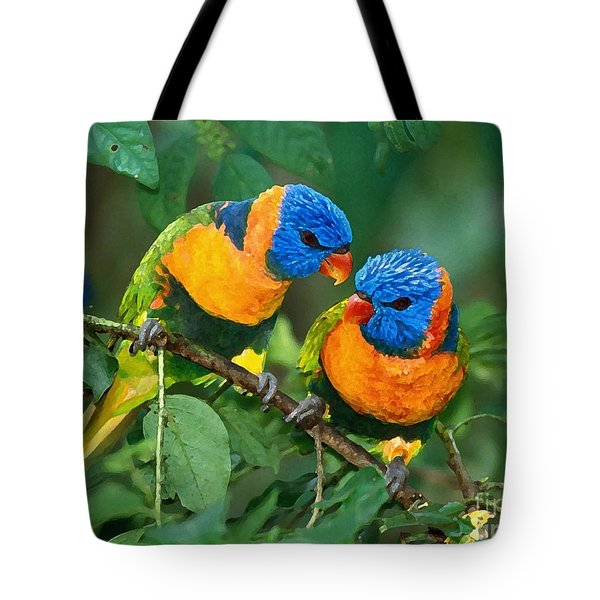 Baby Birds  Tote Bag by Marvin Blaine